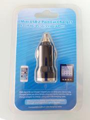 Neu Mini USB 2-Port Kfz