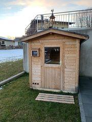 Sauna Gartensauna Massivholz 9kW