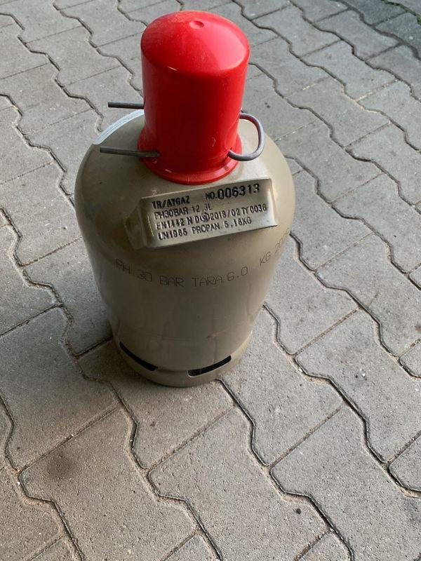 2 Gasflaschen 5 Kg leer Grau Propangasflasche