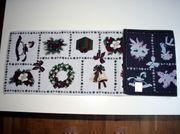 Tischläufer Weihnachten hell