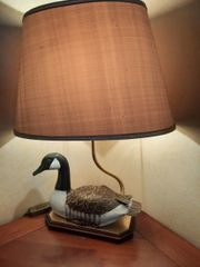 Schöne dekorative Tischlampe