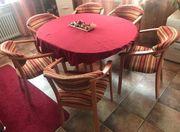 Tisch 6 Stühle Tischdecke Super