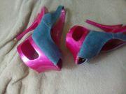 Plateau Sandalette Peeptoes High Heels