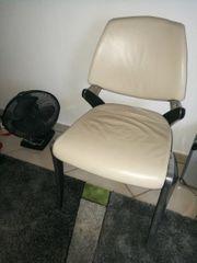 Stuhl Lederstuhl Wartezimmerstuhl