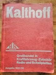 Autozubehör Katalog 30er Jahre