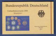 DM-Kursmünzensatz 2001 PP