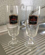 12 Biergläser Henninger Kaiser Pilsner