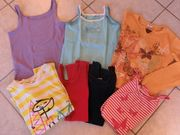 7x Mädchen Shirt Top Langarmshirt