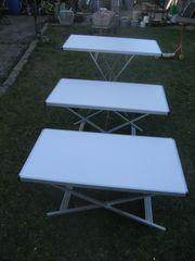 Camping-Tisch Klapptisch mit Alu-Rahmen Höhenverstellbar