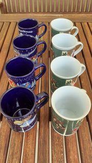 8 Weihnachts Tassen für Tee