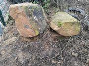 Findlinge Sandsteine zu verschenken