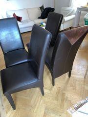 Stühle Leder braun