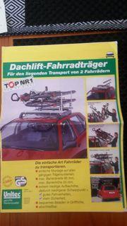 Dachgepäckträger Lift für Fahräder liegend-
