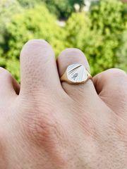 Herren Gold Ring mit zwei