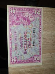 zwei deutsche mark 1948 sehr