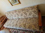 Couch mit Bettkasten und Ottomane