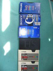 5 neuwertige vhs-kassetten
