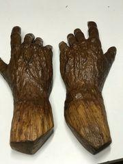 Hand aus Eichenholz