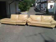 Sofa und Recamiere aus Echtleder