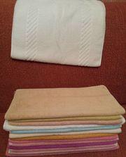 Hand- Badetücher 1 Badvorlage weiß