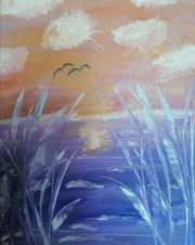 Acrylmalerei abstrakt auf Leinwand mit