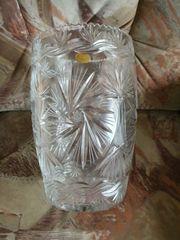 Grosse schwere Blei Kristallvase mit