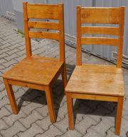 zwei Stühle Holz echt Holz