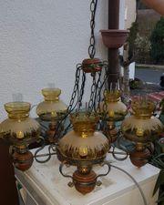 Alte rustikale Deckenlampe