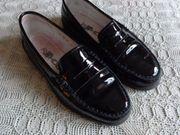 Damen Schuhe Lackschuhe schwarz Gr