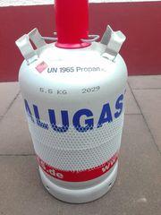 Volle Alugas Gasflasche Füllmenge 11