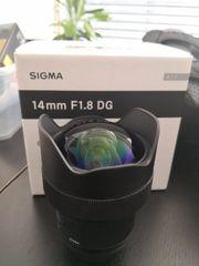 Sigma 14mm 1 8 DG