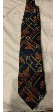 Blaue Herrn Krawatte m Muster