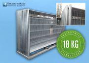 5x Bauzaun AP1 18 kg