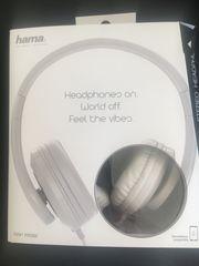 Hama Kopfhörer weiss neu und