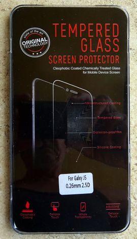 Displayschutz - Samsung Galaxy J5 Schutzglas Panzer