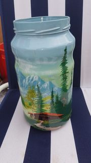 5 wunderschöne handbemalte Vasen Dekorationen