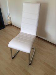 2 Stück Stühle Freischwinger Eßzimmer