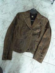 Damen Leder-Jacke Gr 36