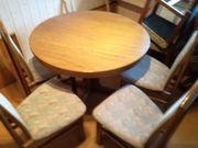 Esszimmertisch rund 4 Stühle