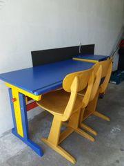 Kinderschreibtisch Schreibtisch mit 2 Stühlen