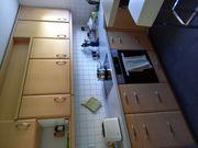 Einbauküche Buchenachbildung - sehr gut erhalten