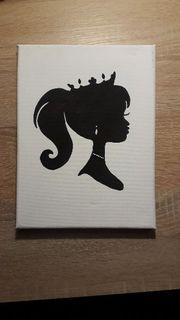 Selbstgemaltes Prinzessin Bild auf Leinwand