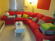 Superschönes großes rotes Sofa