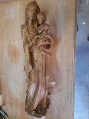 Madonna mit Kind Lindenholz handgeschnitzt