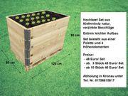 Hochbeete aus naturbelassenem Holz