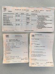 DB Deutsche Bahn Ticket ICE