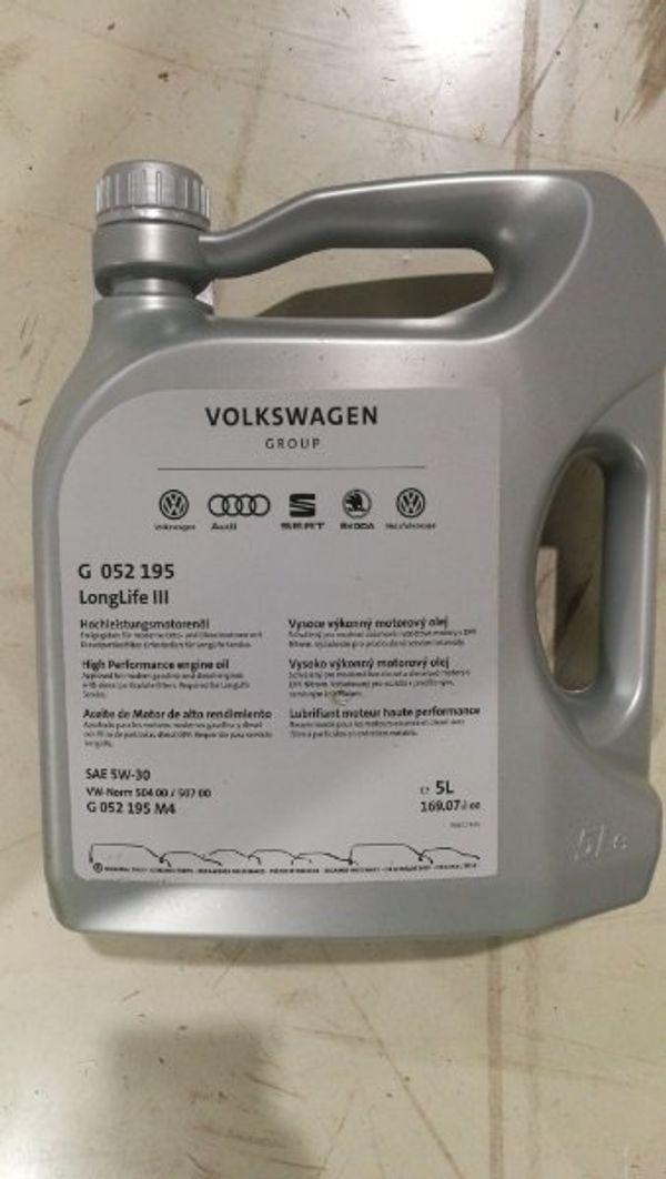 VW Motoröl 5W30 2x5Liter