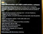 Neu Praktische LED-Strickmütze mit USB-Ladefunktion