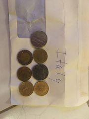 Alte Münzen aus verschiedenen Länderen