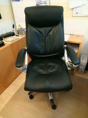 Chefsessel Bürostuhl mit Hocker